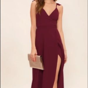 lulu's maroon high-low dress size small